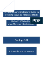 Geology 101 a Primer for the Lay Investor