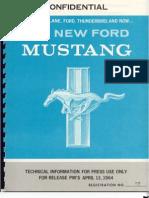 1964 Mustang Press Packet HR