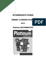 Platinum Mathematics Grade 4 Lesson Plans