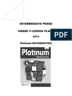Platinum Mathematics Grade 4 Lesson Plans