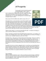 Manufactured Prosperity - Money