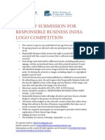 Rules of Submission for Responsible Business India Logo Competition