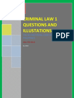 Criminal Law 1 for Finals Question and Illustrations