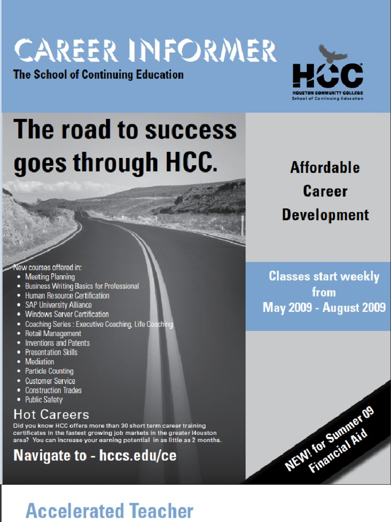 Hcc Continuing Education Summer Schedule Cisco Certifications
