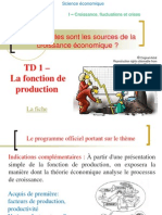 TD 1 - La Fonction de La Production
