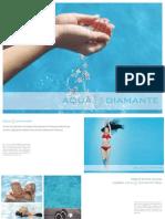 Aqua Diamante Folder