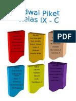 Jadual Piket 9A 2011-2012