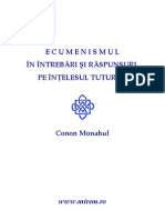 Conon Monahul - Ecumenismul in Intrebari Si Raspunsuri, Pe Intelesul Tuturor