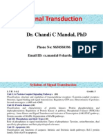 Signal Transduction-1 (17!1!2013)  BY CHANDI CHARAN SINGH MANDEL .