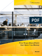 Five Ways SharePoint Can Save You Money