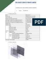 1-The Solar Module Technical Datasheet (DASSSPL)