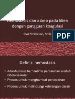 Hemostasis Dan Askep Pada Klien Dengan Gangguan Koagulasi