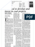 Unethical to Develop and Invest in Coal Projects 14(1)