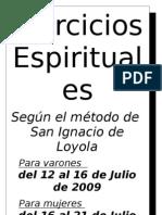 Ejercicios Espirituales - afiche