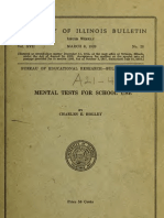 Charles Elemer Holley - Mental Tests for School Use (1920)