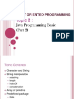 CSC238 - 2) Java Programming Basics (Part 2)