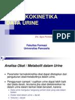 Farmakokinetika Data Urine( 6)