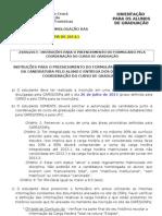 Orientações para alunos Edital 155 - CSF