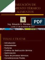 OPTIMIZACIÓN DE TRATAMIENTO TÉRMICO EN ALIMENTOS