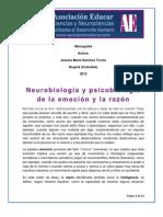 Neurobiología y Psicobiología de La Emoción y La Razón.
