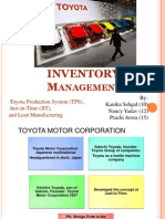 Toyota Inventory Management
