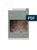 Julius Wellhausen, Prologomena to the History of Ancient Israel