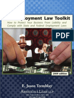 Employment Law Toolkit 2009 Table of Contents and Intro