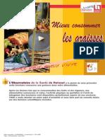 Brochure Mieux Consommer Les Graisses-2009