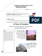 Reading Comprehension a Tour Around London