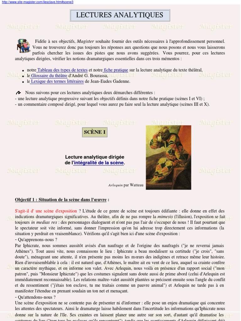 Exemple De Commentaire Composé Sur Le Théatre - Le ...