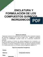 Nomenclatura de Los Compuestos Quimicos Inorganicos