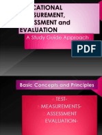 educatoinal measurement,Assessment and evaluation
