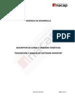 DESCRIPCIÓN Y MANEJO DE SOFTWARE INVENTOR