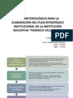 Ruta metodológica para elaborar PEI