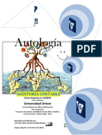 Antologia de Auditoria Contable LIA0839 Matutino Mixto Sabatino VIII Cuatri. Enero-Abril 2011
