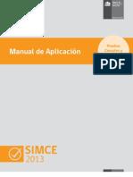 Manual Aplicación SIMCE 2013