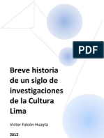 83997624 Breve Historia de Un Siglo de Investigaciones de La Cultura Lima