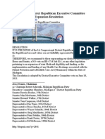 MIGOP 1st District Republican Executive Committee Resolution Against Medicaid Expansion Part 4