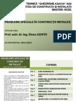 CAP. 0-PROBLEME SPECIALE +ÄN CONSTRUC+óII METALICE-CUPRINS