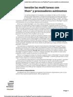 Extensión las multi tareas con Python® y procesadores autónomos