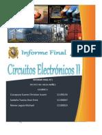 Informe Final - Lab. Circuitos Electrónicos II - Proy. Electrocardiograma
