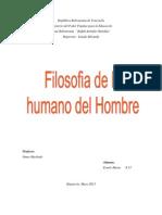 trabajo filosofia de lo humano del hombre ernely 60,ºº