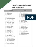 Pembagian Divisi Untuk Relawan Baru Merc Surakarta Siap Posting (1)