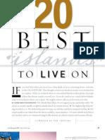 Islands Magazine Best Islands to Live on 2007