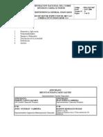 PRO.CH.067 Cambio de Motor Inspección de 480 V.A.C Correa 22 CV3 Chancador E-4