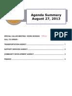 Agenda Summary 8-27-2013