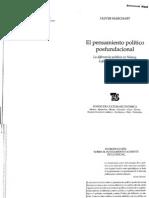 Marchart-El pensamiento político postfundacional