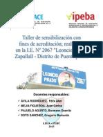 INFORME FINAL DEL TALLER DE ACREDITACIÓN