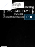 Two Plays for Latin Classes