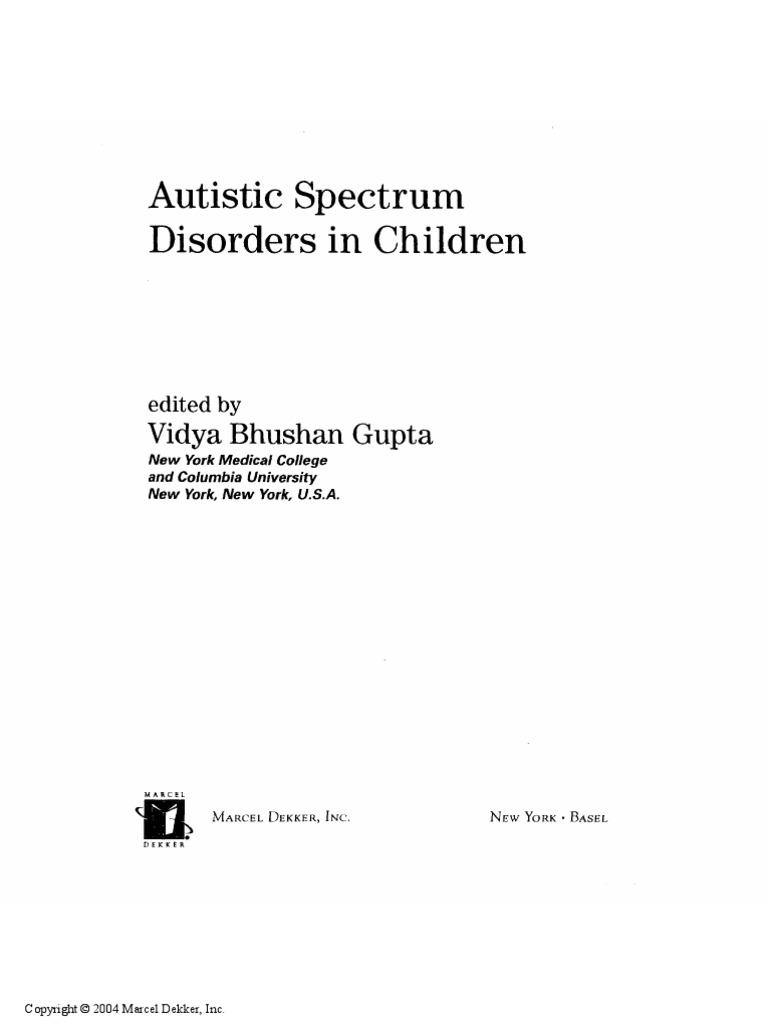Autistic Spectrum Disorders in Children | Pervasive Developmental ...